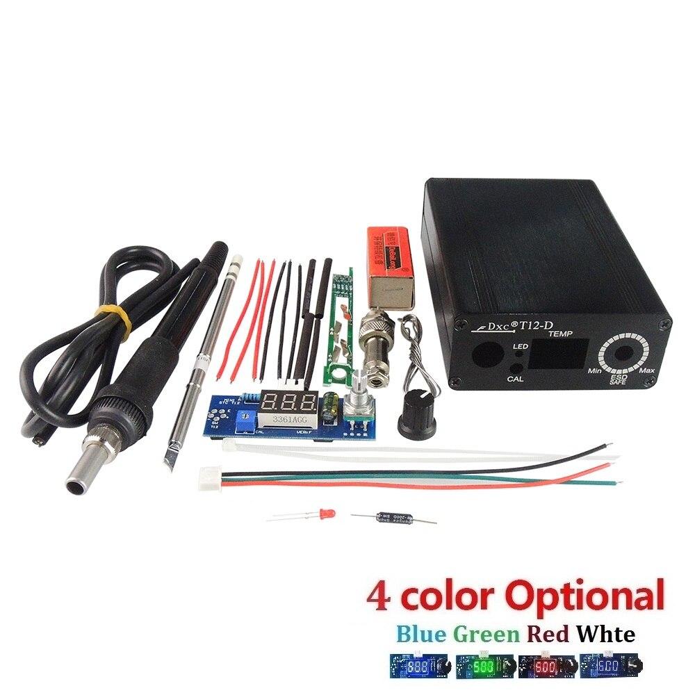 Nueva unidad eléctrica Digital controlador de temperatura de la estación de soldadura Kits para HAKKO T12 DIY kits LED interruptor de vibración