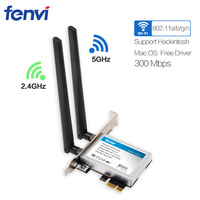 Fenvi 300Mbps Dual Band PCI Express Network Card Wireless 802 11a B G N 300M WiFi