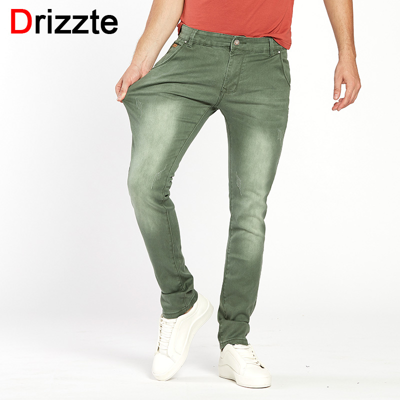 Drizzte Mens 6 Colors Stretch Denim Jeans for Men Slim Wash White Jean Pants Trousers Man 30 31 32 33 34 36 38 Mens Jeans drizzte men s jeans classic stretch blue denim business dress straight slim jeans size 34 35 36 38 pants trousers jean for men