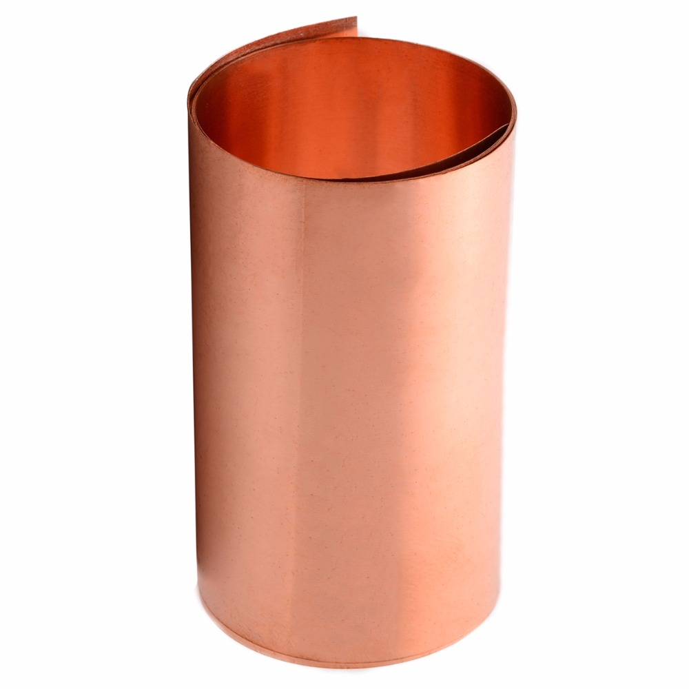 1pc 0.2x100x1000mm Copper Sheet Plate Strong Cu Metal Foil Sheet Roll High Purity