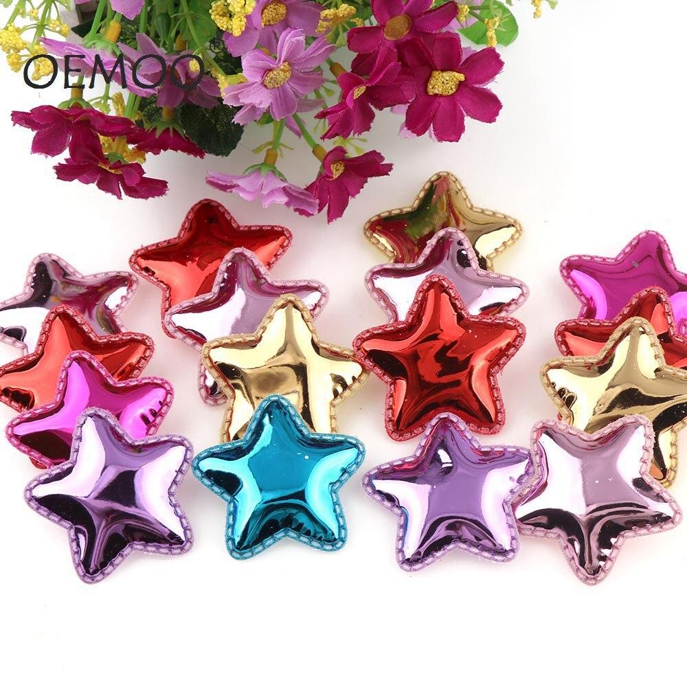 3050 pièces tissu en polyuréthane patchs rembourré étoile forme feutre vêtement Appliques rembourré feutre Appliques cheveux chapeau décoratif ornement