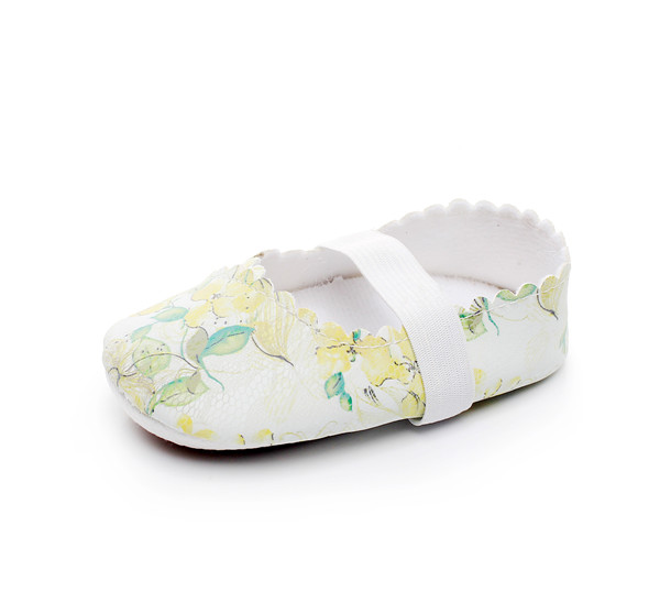HONGTEYA Stylish Floral First walkers Newborn Crib Girls Princess Party Dance baby Ballet shoes Soft sole Baby Moccasins