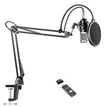 Neewer Pro Condenser Microphone Kit for Studio Recording, Includes: NW-800 Condenser Mic+Adjustable Suspension Scissor Arm Stand(China)