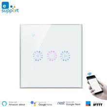 무선 홈 오토메이션 ewelink app 제어 wifi led 조광기 스위치 라이트 스위치 조광기 amazon alexa google 홈과 호환 가능