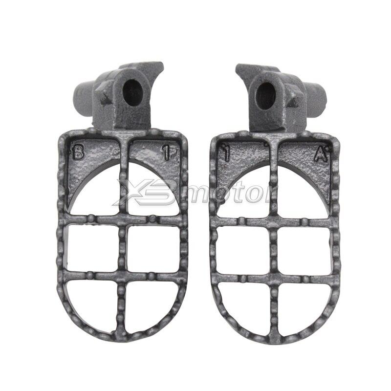 Motorcycle Footrests Footpegs Foot Pegs For Yamaha Gas Gas Enducross EC 125 250 1998-2005 Gas Gas Enducross EC 200 300 1999-2005