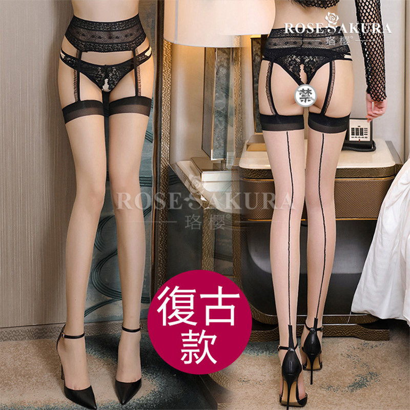 Women Sexy Lingerie Stripe Elastic Stockings Transparent Black Stocking Sheer Tights Pantyhose 6 Color  Sexy Stockings