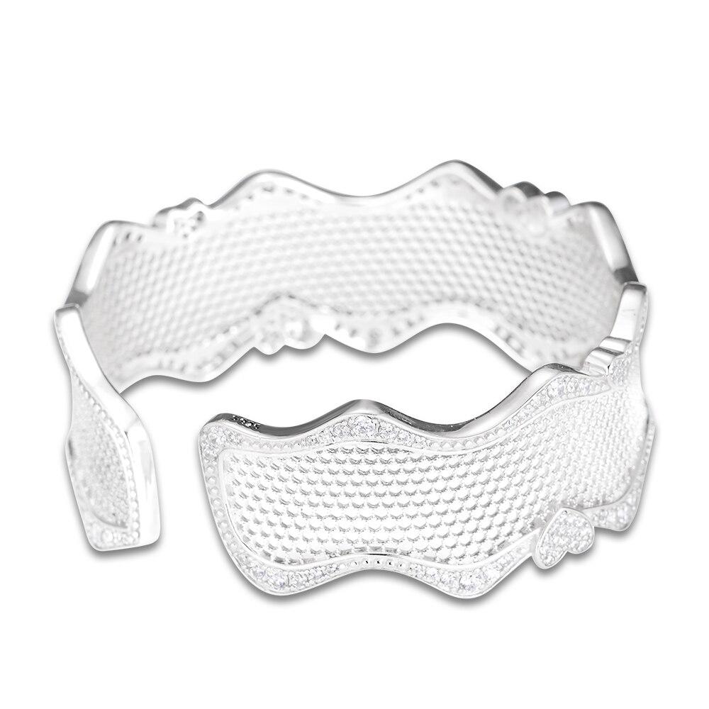 FANDOLA Bracelets Dentelle De Bracelet d'amour Bracelet de Manchette D'origine 925 bracelets en argent massif Bracelets pour les Femmes Bracelet Manchette