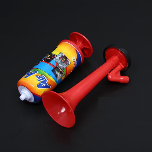Plastic Pipe Vuvuzela Low Voice Fans Cheer Football Air Horn Light Speaker Cheerleading Fans Horns Push The Pump Gas Air Horns