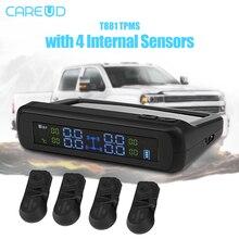 CAREUD T881 Solar font b TPMS b font Tire Pressure Monitoring System with 4 Wireless Internal