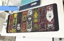 Игра престолов геймерский коврик для мыши объемный рисунок 800x300x3 мм gaming mouse pad милый аксессуары для ноутбуков ноутбука padmouse эргономичный коврик
