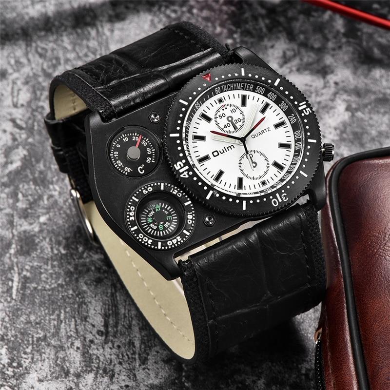 cinta larga casual masculino relógio de quartzo