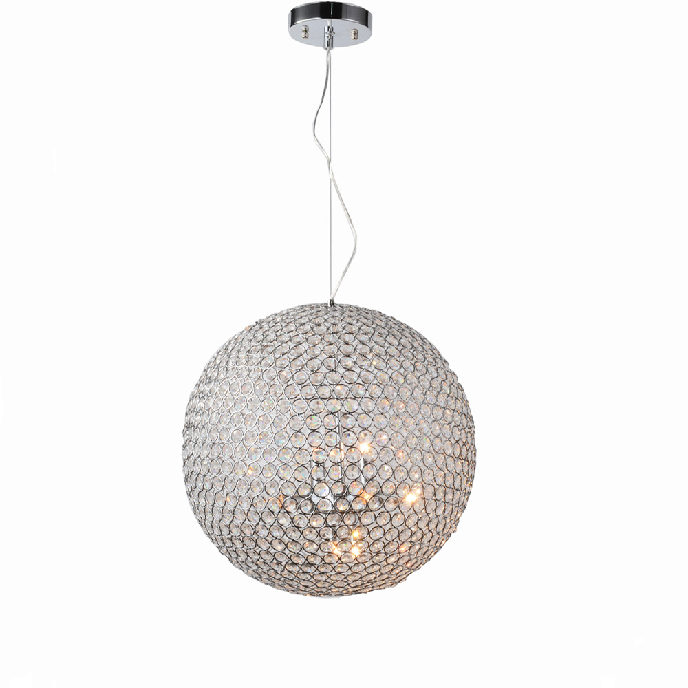 Modern round ball Iron Chandelier diameter   E27 led lamps simple crystal Chandeliers led lustre chandelier lightingModern round ball Iron Chandelier diameter   E27 led lamps simple crystal Chandeliers led lustre chandelier lighting