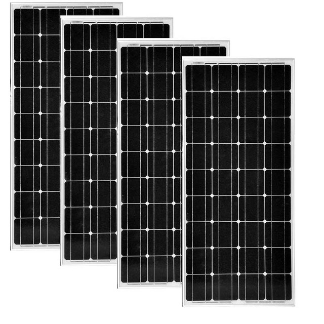 Panneau Solaire 12 v 100 piezas 4 PCs módulos solares 48 v 400 w cargador de batería Solar caravana Camping Rv autocaravana Coche