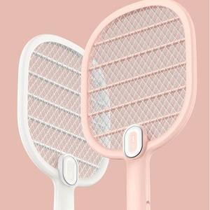 Image 2 - חדש Youpin 3 חיים יתושים חשמליים מחבט נטענת LED חשמלי חרקים באג יתושים Dispeller רוצח מחבט 3 שכבה נטו