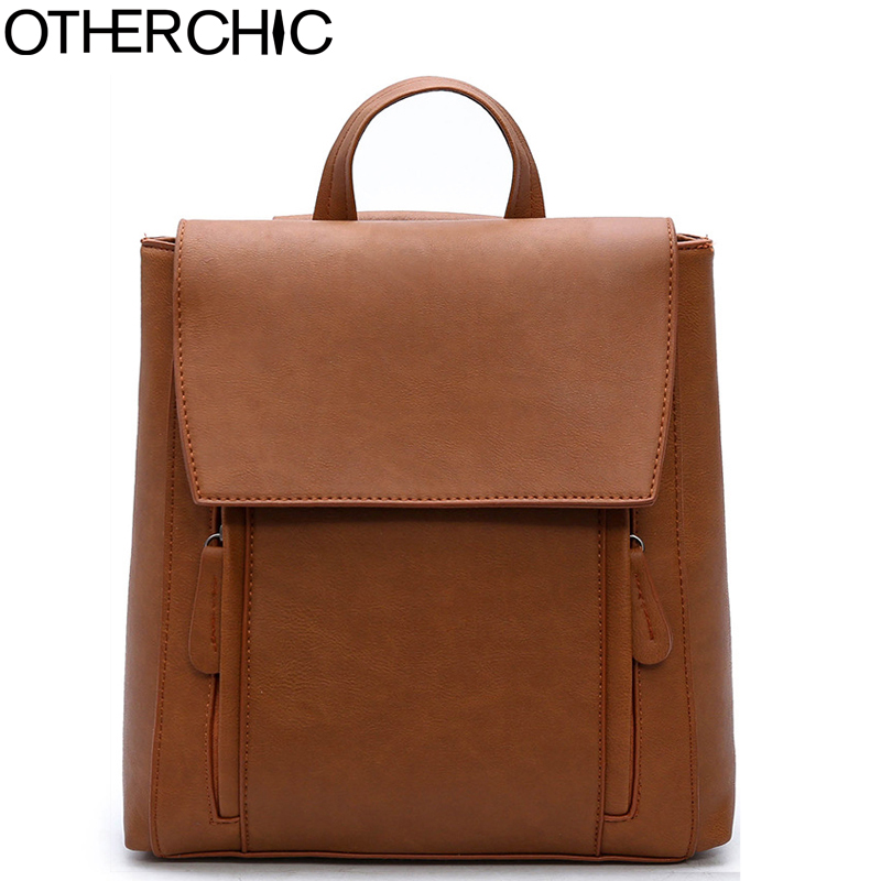 OTHERCHIC 2017 Women Backpack PU Leather Backpacks Preppy Style Bag Casual Backpacks Girl Teenagers Shoulder Backpack