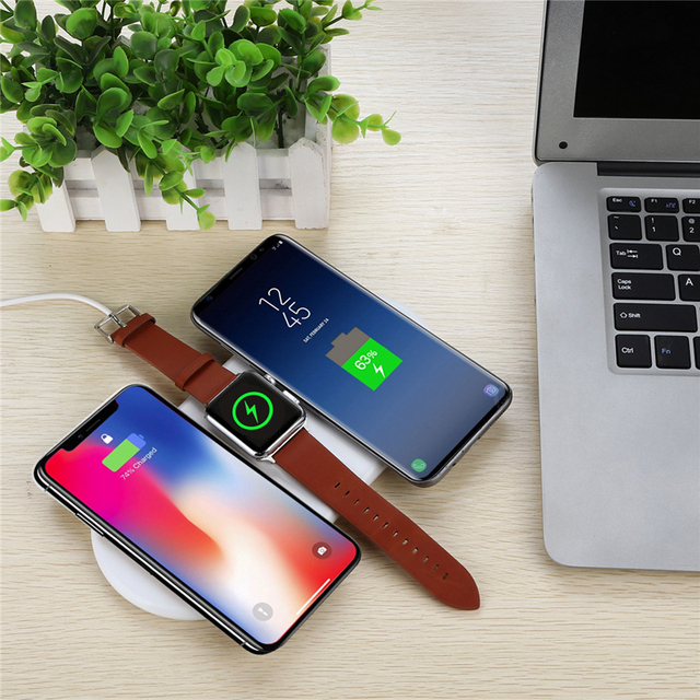 QI Wireless Charger base AirPower mat For iPhone X 8plus XR XS Max Apple AirPods Watch