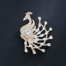 Luxury Phoenix Brooch Pins Exquisite Gold Silver Glass Crystal Rhinestones Dresses For Women Friend Gift