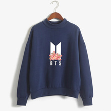 Korean style fashion casual loose woman sweatshirt long sleeve letter pullover o-neck female