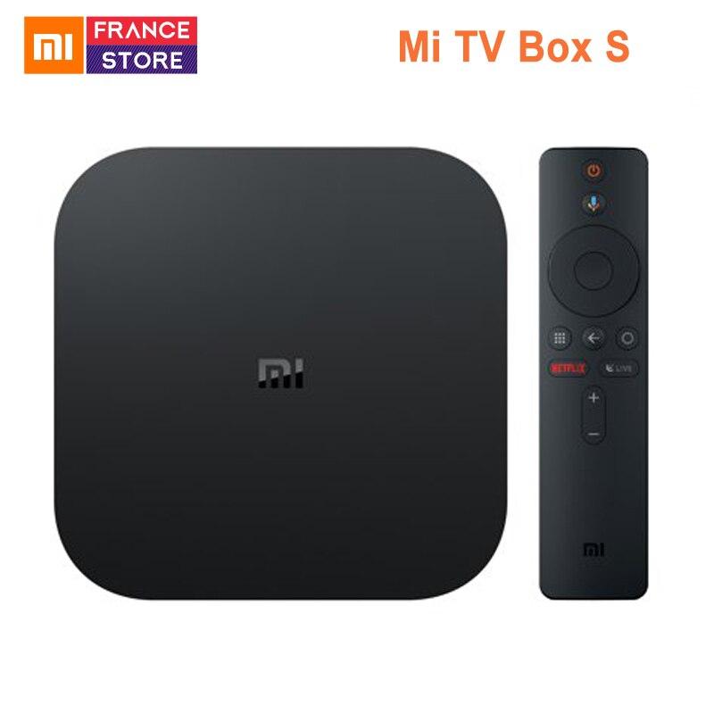 Global Version Xiaomi Mi TV Box S Android TV Box 8 1 4K HDR Quad core