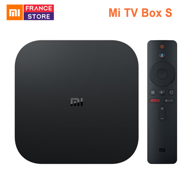 Global Version Xiaomi Mi TV Box S Android TV Box 8.1 4K HDR Quad-core 2GB DDR3 Smart control Bluetooth 4.2 Smart TV Box