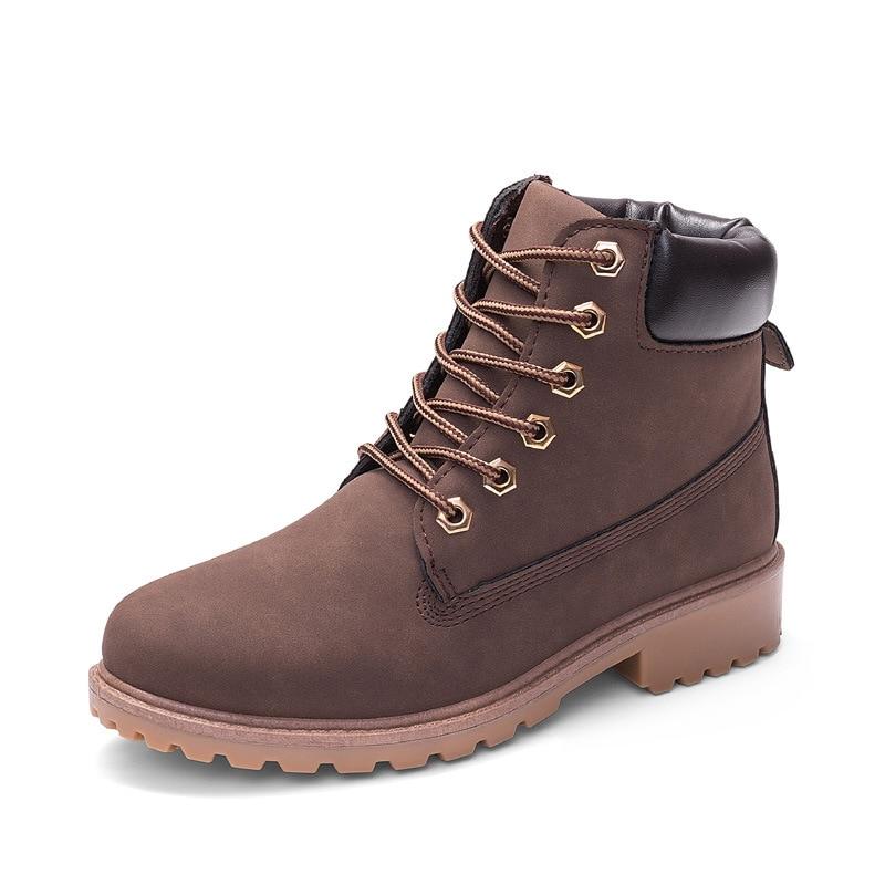 Women Boots Ankle Plus-Size Winter Spring/autumn Unisex High-Help Fashion Lace-Up Platform