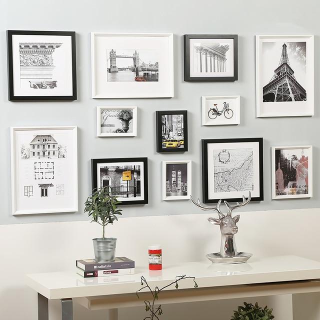 Porta retrato moldura 12 pcs black white vintage picture - Fotos de cuadros modernos ...