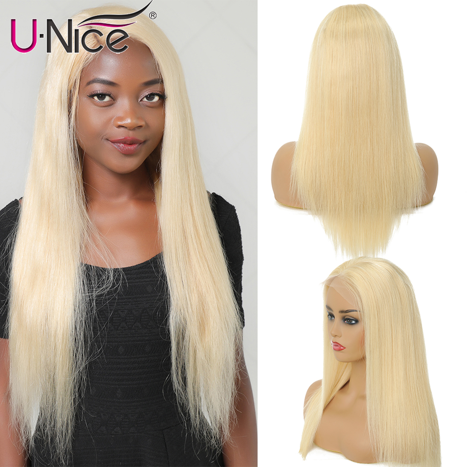 Unice Hair 13*4/6  Transparent Lace Front Human Hair Wigs Brazilian Straight Lace Frontal Wig Pre Plucked Remy Lace Wigs