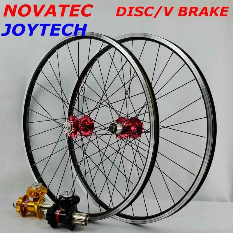 MTB ホイールセット 26 ノバテックハブ 4 ベアリング Joytech 041/042 32 穴マウンテンバイクホイールのための 7-8 -9-10 スピードカセット