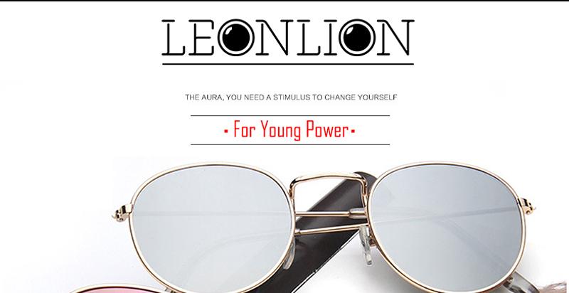 c86209f0c1 LeonLion 2018 Luxury Mirror Sunglasses Women Men Brand Designer ...
