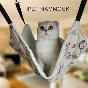 2 Colors Cat Hammock Durable Cot Bed Pet Supplies for Hobbies Warm Cover Pet Bed Pet Blanket Bed for Cat Animal Drop Shipping header civic eg