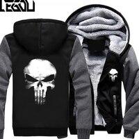 USA SIZE Unisex Punisher Skull Casual Hoodies Thicker Coat Jacket Sweatershirts