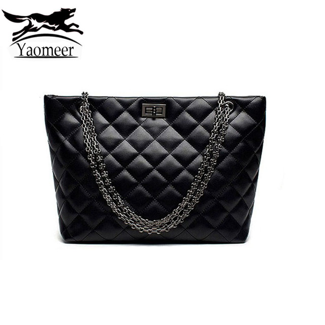 2017 Luxury Women Bag Fashion Quilted Chain Shoulder Bags Female Totes Designer Handbags Famous Brand Soft