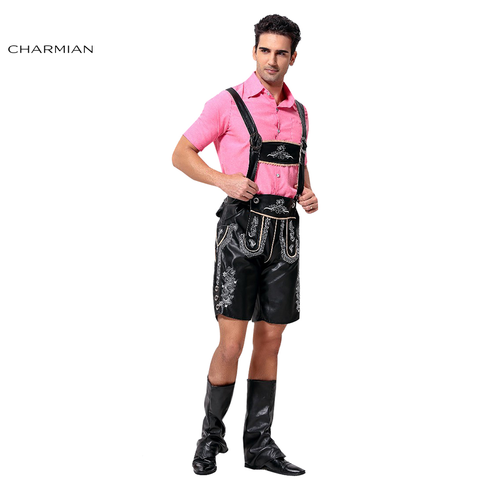 Charmian Classical Oktoberfest Costume for Men Adult German Bavarian Cosplay Carnival Party Fancy Oktoberfest Costume Clothing