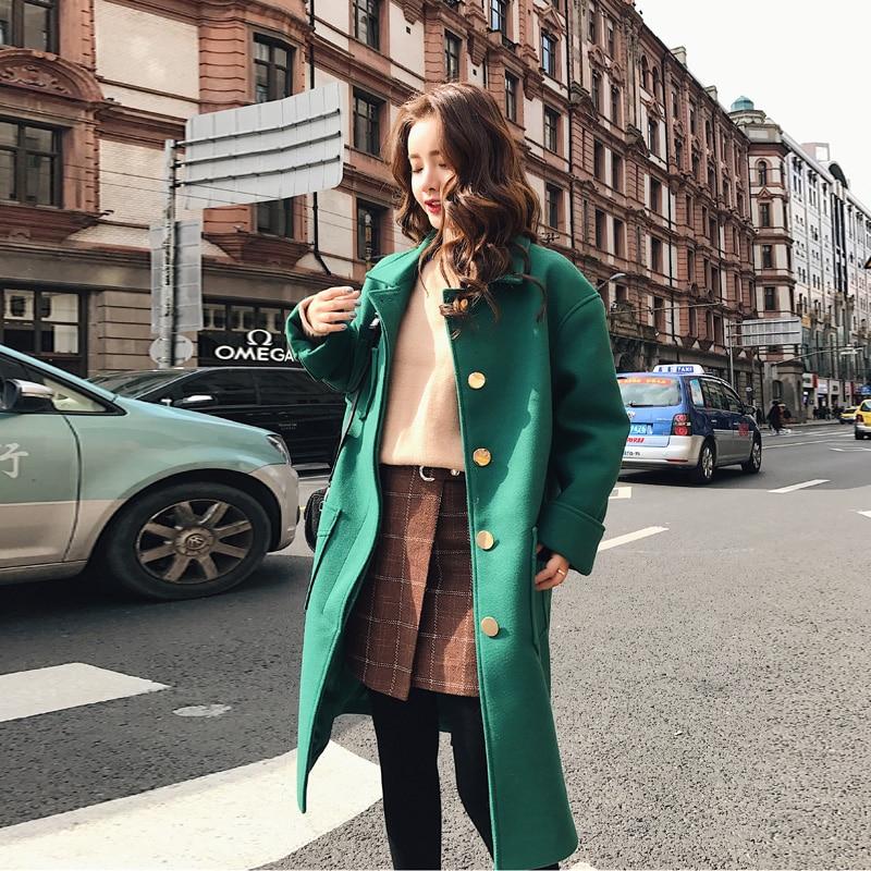 De Poitrine Lâche Haut Poches Gamme Automne Taille La O750 Mélanges Unique Outwear Laine Manteau 2018 Mode Grandes Féminine Long Hiver Plus qXvgFXE