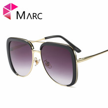 MARC 100%UV400 girls boys 2018NEW Eyewear Sunglasses Oculos kids Mirror Black goggle Gradient Children Plastic