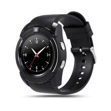 Sportuhr Mit Kamera Full Screen Smart Watch V8 Für Android Spiel Smartphone Unterstützung TF SIM Karte Bluetooth Smartwatch PK GT08