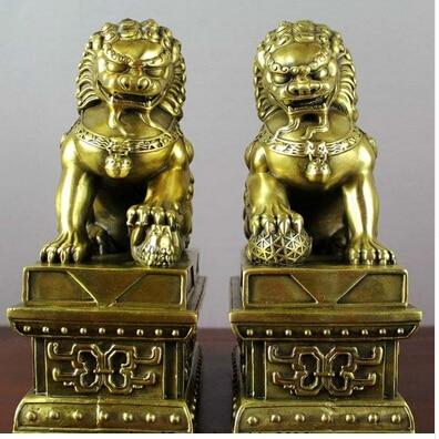 De china cobre bronce evil puerta bei jing fu perro foo for Puerta para perros