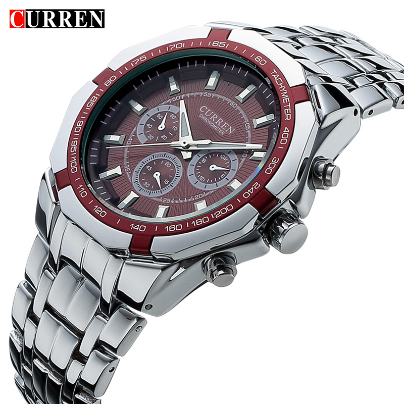 Men Business Watch Clock Curren Mens Watches Top Brand Luxury Military Full Stainless Steel Quartz Wrist Watch Relogio Masculino new fashion men business quartz watches top brand luxury curren mens wrist watch full steel man square watch male clocks relogio