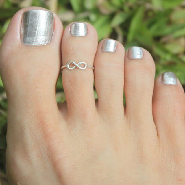 Retro Toe Ring Simple Sliver Golden Plated Foot Jewelry
