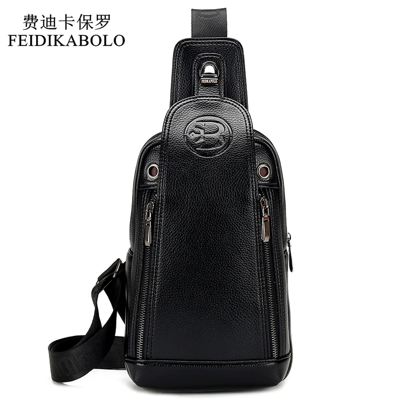 FEIDIKABOLO Luxury Brand Business Men Messenger Väskor Läder Mans Crossbody Väskor Man Satchels Backbag Mens Travel Axelväskor