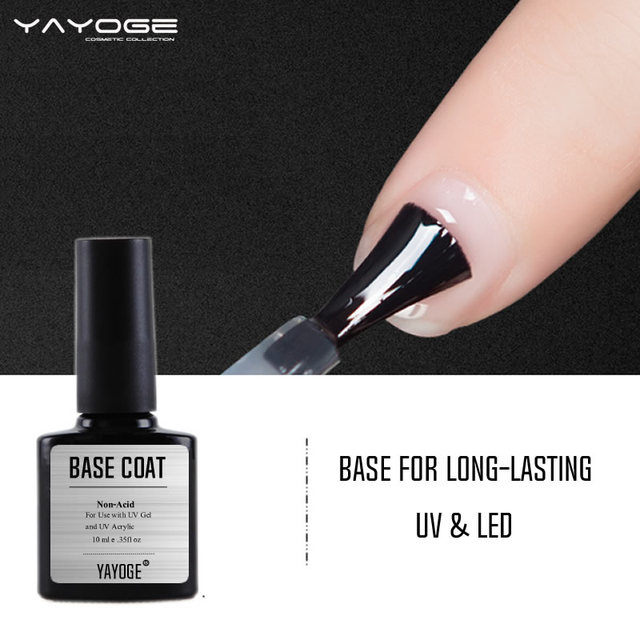 Base Coat Bonder Uv Gel Varnish Primer Foundation Nail Polish Lacquer Manicure 10ml Yayoge Acrylic