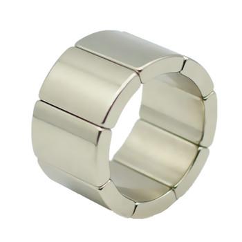 Magnes NdFeB łuku OR18xIR14x45degxT20 mm N42H magnes rozrusznika dla generatorów turbin wiatrowych trwałego wirnika segmentu 8 sztuk tanie i dobre opinie Rohs CN (pochodzenie) Stałe Neodymowy magnes HMMEND Moto magnet In Pair NS-SN NiCuNi triple plated can be customized