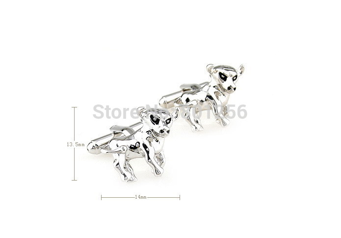 Free shipping Animal Cufflinks silver color animal ox design copper material men cufflinks wholesale&retail