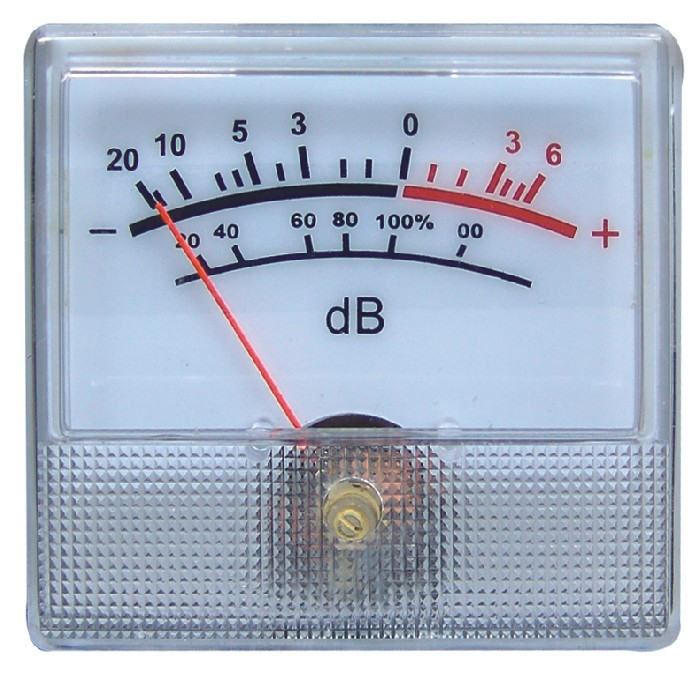 1PCS Rectangular White Panel VU Meter 0-500uA 650 Ohm -20 ~ +6dB DB Power Amplifier Audio