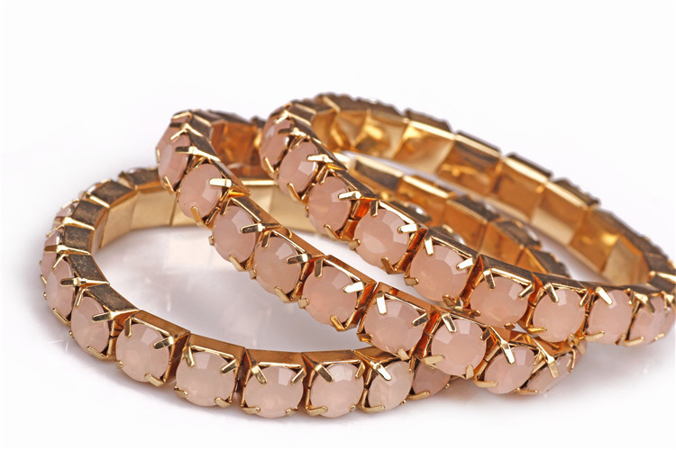 New Golden Fashion Crystal Bracelets Sets For Women Wholesale ABC