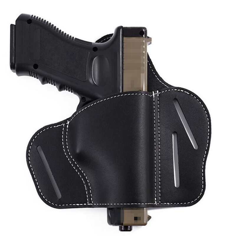 New ! Tactical Leather Gun Holster Right Hand Belt Holster Fit Various Gun  Taurus 1911 Sig Sauer Hunting Shooting Pistol Holster 3e68b685162c1