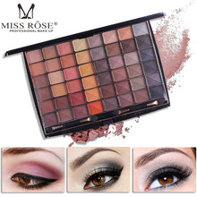MISS ROSE Professional Woman Brand Cosmetic 48 Colors Eyeshadow Palette Waterproof Nude Matte Earth Color Eye
