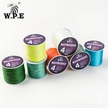 W.P.E KOMODO Series Braided Fishing Line 4 Strands 100M 150M 300M PE Wire 0.6#-4.0# with A Free pcs of Swivel