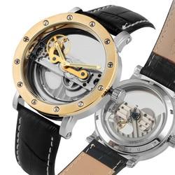 Chic wszystkie drążą automatyczne mechaniczne zegarki własny wiatr dla mężczyzn klasyczny szkielet Luminous funkcja mechaniczne zegarki na rękę w Zegarki mechaniczne od Zegarki na