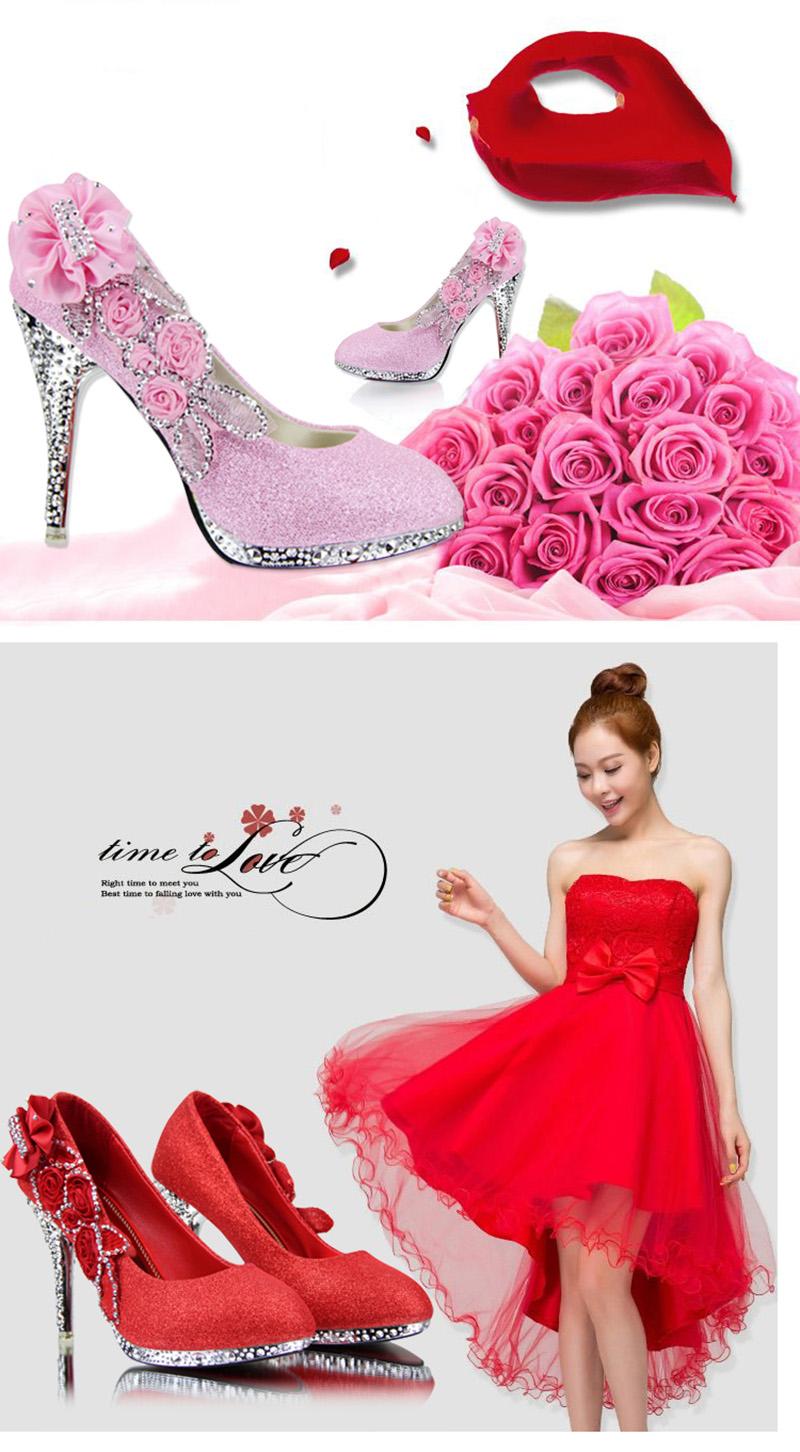 19 Colorful Wedding Shoes Women Pumps Sexy Ladies Super High Heels Fashion Party Women Shoes Thin Heel 8cm 10cm YX721 2